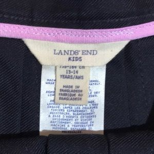 Lands' End Bottoms - Girls black pleated skirt 14 years